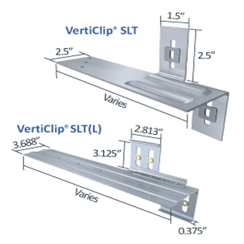 verticlip slt slide clip connection exterior curtain wall studs light steel framing