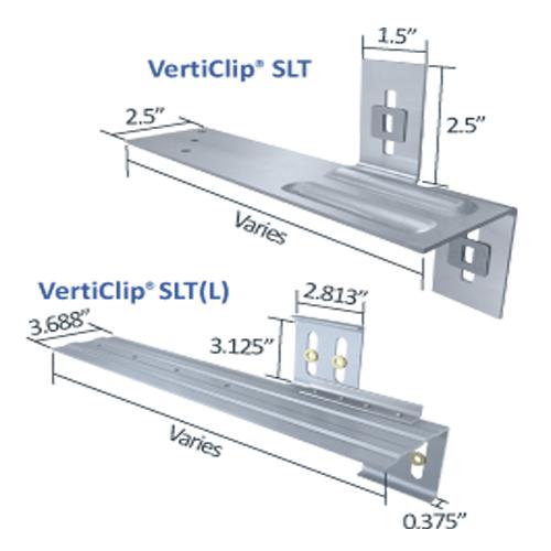 verticlip slt slide clip connection exterior curtain wall studs light steel framing